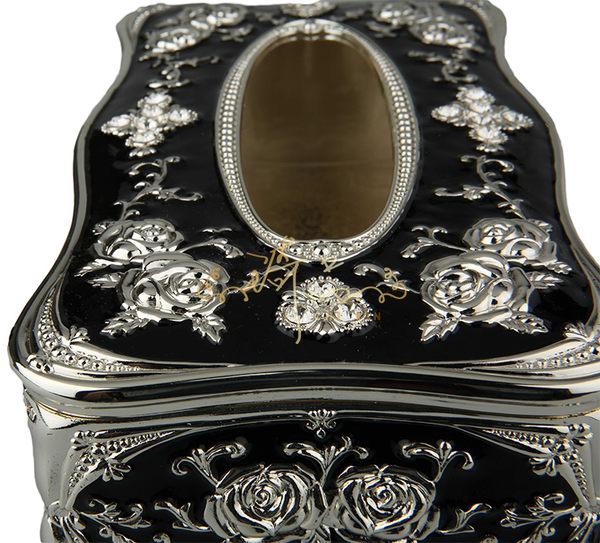 古典琺瑯浮雕面紙盒