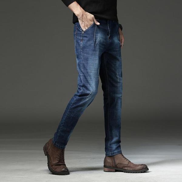 降價兩天 秋季彈力修身牛仔褲男士顯瘦小腳褲韓版潮流百搭男生休閒長褲子男