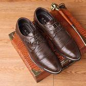 正裝皮鞋 商務男鞋子 新款商務正裝休閒皮鞋男韓版英倫尖頭潮流鞋子男皮鞋《印象精品》q583