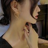 耳環耳釘氣質女夸張耳飾純銀簡約品銀針【小酒窝服饰】