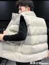 策圖冬季男士馬甲外套保暖防寒外穿坎肩立領無袖棉衣百搭秋冬背心 雙十一全館免運