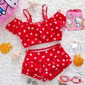 正韓兒童泳衣女童女孩泳裝公主嬰兒寶寶連體比基尼分體游泳褲套裝❥全館1元88折鉅惠