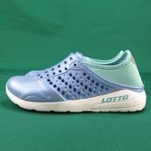 iSport 愛運動 LOTTO 童 輕便鞋  潮流洞洞鞋 LT9AKS0376 珠光藍紫