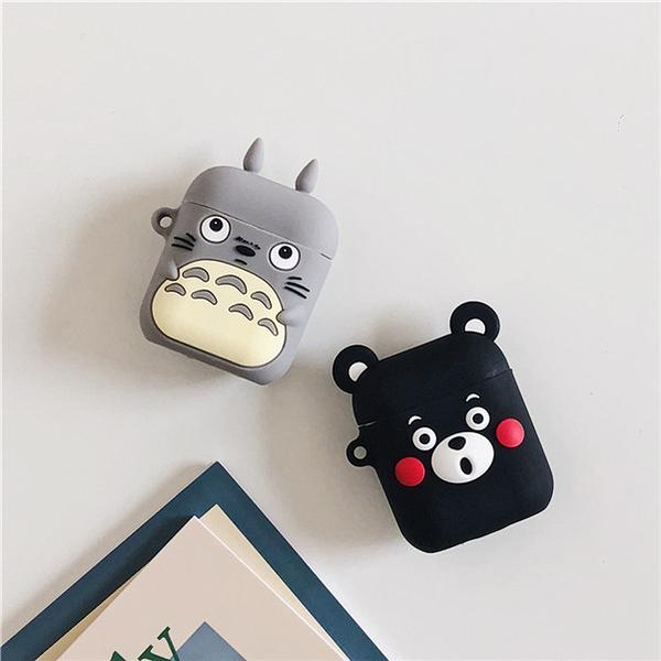 ?即將現貨 台灣發貨? Airpods2 藍芽耳機保護套 蘋果無線耳機保護套 龍貓 熊本熊