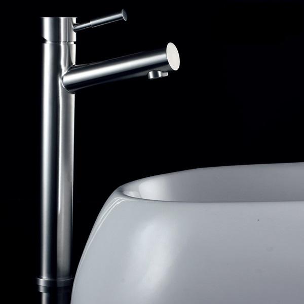 水龍頭 冷熱出水 檯面盆 檯上盆 浴室面盆 洗臉盆 高腳 304不銹鋼 質優型美耐用