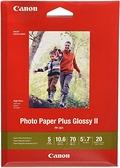 [2美國直購] Canon 5x7吋 相片紙20張 CanonInk 1432C002 Photo Paper Plus Glossy II 5吋 x 7吋 20 Sheets