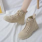 馬丁靴馬丁靴女潮ins年春秋季新款英倫風網紅瘦瘦增高短靴子秋冬季 JUST M