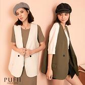 限量現貨◆PUFII-外套 雙排釦側口袋西裝背心西裝外套-0916 現+預 秋【CP21036】