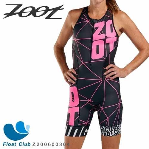 【ZOOT】女款 F20 NEON RACING 競速系列 無袖連身三鐵衣 艷亮桃 Z200600304 原價6500元