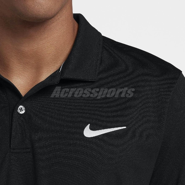 Nike 短袖T恤 As M Dry Polo Team 黑 白 男款 Polo衫 網球 運動休閒 【ACS】 939138-010