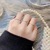 戒指女珍珠小眾設計波浪形時尚韓版簡約指環【少女顏究院】
