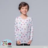 【WIWI】聖誕米奇溫灸刷毛圓領發熱衣(星砂灰 童100-150)