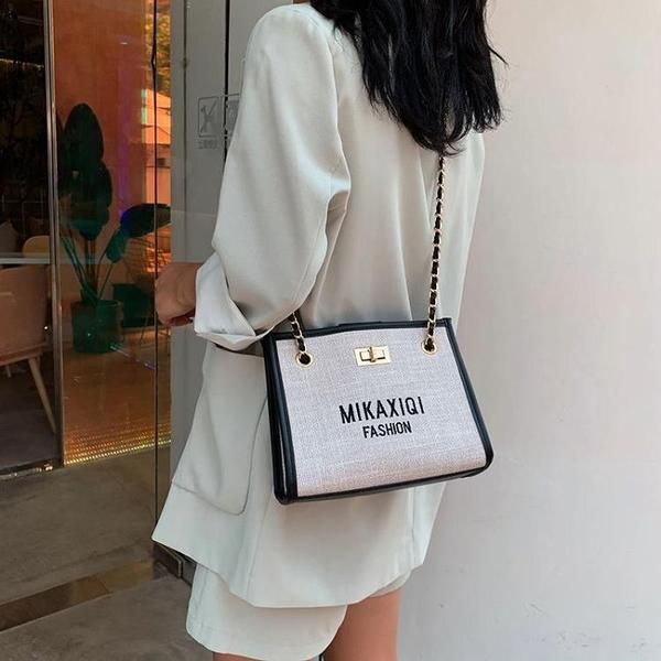 休閑小包包女新款夏季洋氣百搭鏈條單肩包韓版時尚斜挎水桶包