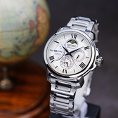 SEIKO 精工 Premier 人動電能月相腕錶-銀/42.5mm 5D88-0AH0S(SRX015J1)