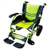 輪椅B款-鋁合金輪椅/ /小輪椅/輕巧小輪折背 淨重10Kg