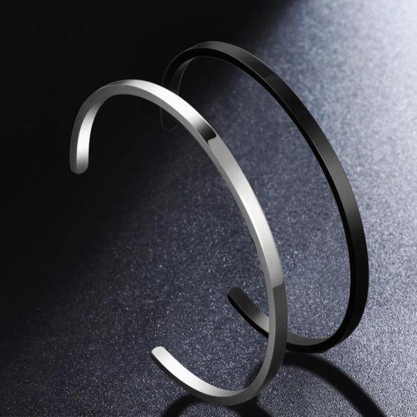 鈦鋼手鐲男潮人個性韓版手練可調節女士男生手飾定制刻字情侶手環  魔法鞋櫃