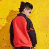 童裝男童夾克外套春裝兒童抓絨上衣中大童立領開衫-新主流
