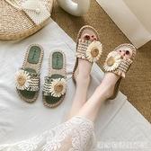 網紅夏天可濕水外出涼拖鞋女外穿ins潮鞋年新款夏季時尚百搭 居家物語