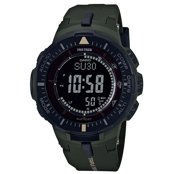 CASIO 卡西歐 PRO TREK 太陽能 登山錶 防水 男錶 PRG-300-3DR