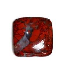 [協貿國際]天然花紅石正方形戒面DIY手工飾品配件(10入價)