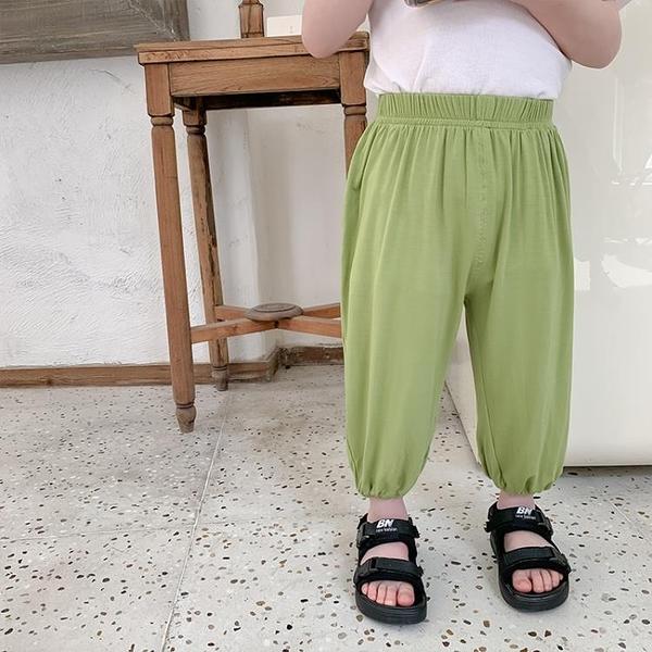 棉小班男童防蚊褲夏裝新款寶寶莫代爾褲子薄款兒童休閒褲童裝 伊衫風尚