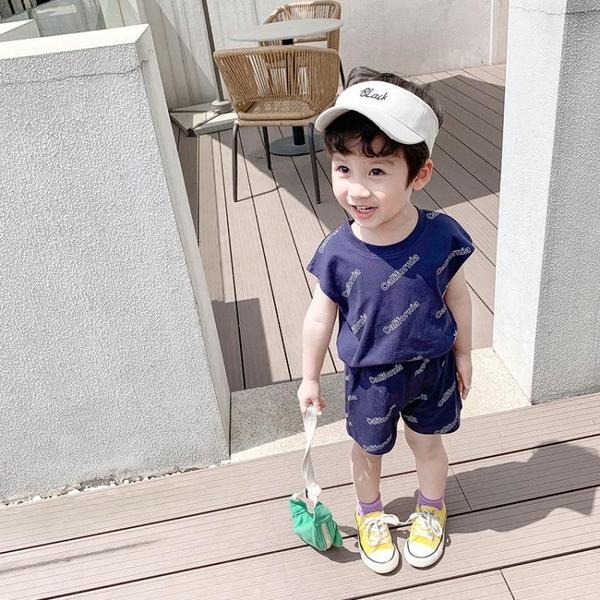 兒童夏裝男寶寶韓版童裝男童衣服潮新款夏季帥氣小孩背心套裝 快速出貨