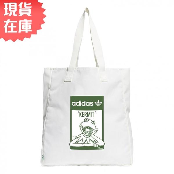 【現貨】ADIDAS DISNEY KERMIT 手提袋 托特包 休閒 科米蛙 聯名款 白【運動世界】GQ3291