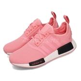 【海外限定】adidas 休閒鞋 NMD_R1 J 粉紅 白 大童鞋 女鞋 運動鞋 襪套式 【ACS】 B42086