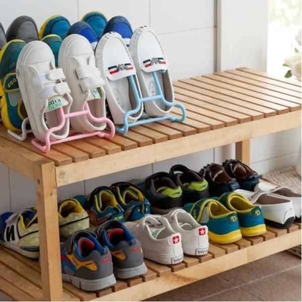 ♚MY COLOR♚創意二合一可立兒童鞋架 晾曬 懸掛 可掛 衣架 掛架 多用 兩入裝【Q62】