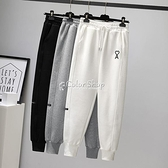 灰色運動褲女寬鬆束腳褲子春季顯瘦百搭1新款ins潮休閒衛褲 快速出貨