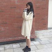 【618好康又一發】秋冬學院風寬鬆毛衣針織裙連衣裙