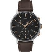 TIMEX 天美時 (TXTW2T11500) 經典冷光 三眼計時手錶 /42mm