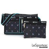 LeSportsac - Standard雙口袋斜背包-附化妝包(火烈鳥/黑) 7519P F181