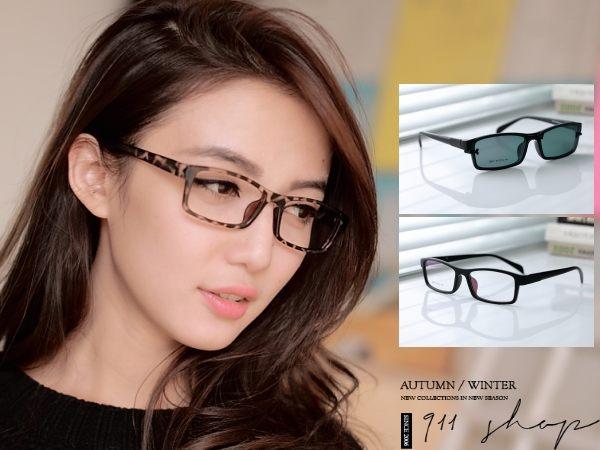 Chic.TR90塑膠鈦X偏光磁扣方形配鏡框眼鏡【od801】*911 SHOP*