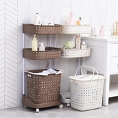 衛生間置物架浴室多層洗衣機儲物廁所落地收納架洗澡洗手間收納箱放衣籃