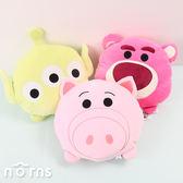 【玩具總動員4頭型扁枕TSUM TSUM 12吋】Norns迪士尼正版 三眼怪午安枕 熊抱哥 火腿豬