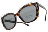 Tiffany&CO.太陽眼鏡 TF4148F 8015-3F (琥珀棕-藍鏡片) 華麗T字款 墨鏡 # 金橘眼鏡