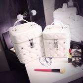 化妝包小號便攜韓國簡約少女心品收納包大容量多功能化妝箱盒手提   遇見生活