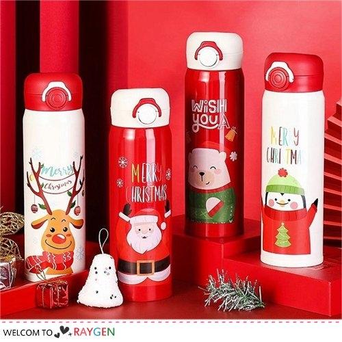 交換禮物 聖誕系列圖案保溫瓶 不銹鋼杯 隨手杯 500ML