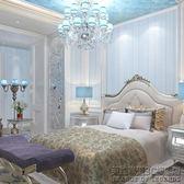 3D條紋牆紙歐式奢華臥室無紡布壁紙客廳電視背景牆簡約 IGO