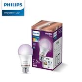 【免運費】 Philips飛利浦 Wi-Fi WiZ 智慧照明 7.5W全彩燈泡 PW004