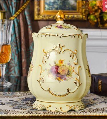 設計師美術精品館陶瓷密封罐 非玻璃瓶子儲物罐 食品雜糧蜂蜜瓶咖啡豆大號 無鉛