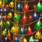 LED彩燈閃燈串燈滿天星戶外小燈籠春節新年節日家用過年裝飾掛燈 創意新品
