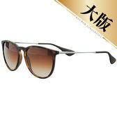 台灣原廠公司貨-【Ray-Ban雷朋】4171F-865/13-57 亞洲加高鼻墊款太陽眼鏡(#大版琥珀框-棕色鏡面)