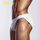 男內褲|那個人魚線 情趣超高衩 三角褲 超低腰 電臀 合身 運動 重訓 彈性 比基尼 基本純棉AD_OR214