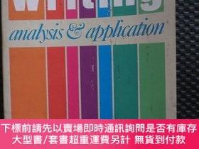 二手書博民逛書店writing罕見analysis & application【英文原版書】Y17225 ROBERT F.W