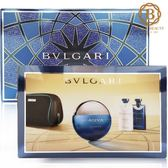 BVLGARI 寶格麗 勁藍水能量香氛禮盒(淡香水100ml+鬍後乳75ml+沐浴膠75ml)《Belle倍莉小舖》01213