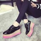 女生防水臺坡跟松糕厚底鞋DL9255『黑色妹妹』