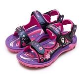 LIKA夢 GOODYEAR 固特異 20cm-24cm 多功能運動磁扣涼、拖鞋 夏日派對系列 紫桃粉 08827 中童