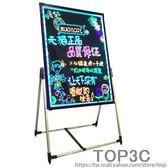 電子熒光板60 80 廣告板發光板寫字板 led熒光板 手寫板 熒光黑板「Top3c」